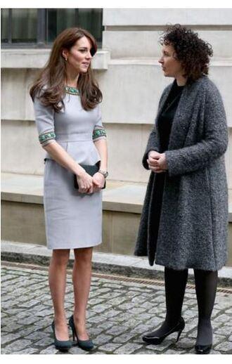 dress grey kate middleton pumps midi dress shoes