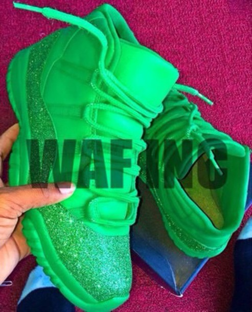 bag shoes lime green & sparkles