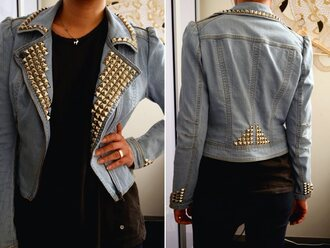 jacket denim vintage vintage studded studded denim hipster light blue jeans denim denim jacket studded jacket studded denim jacket
