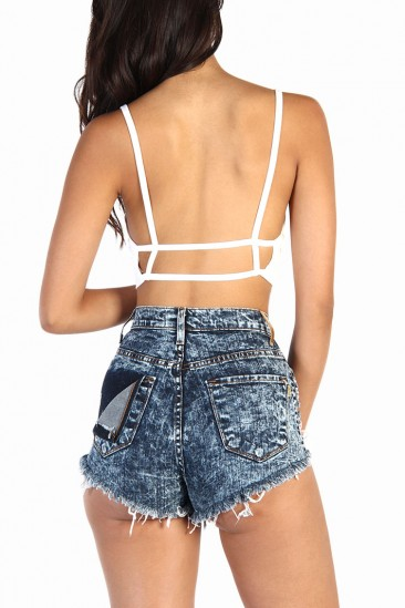LoveMelrose.com From Harry & Molly | Ladder Back Basic Top - White