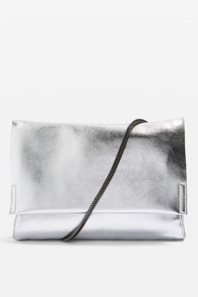 Topshop bag clutch silver