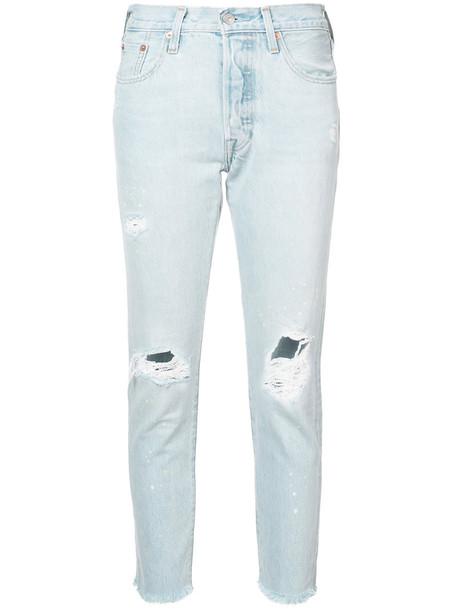 Levi's jeans skinny jeans women cotton blue