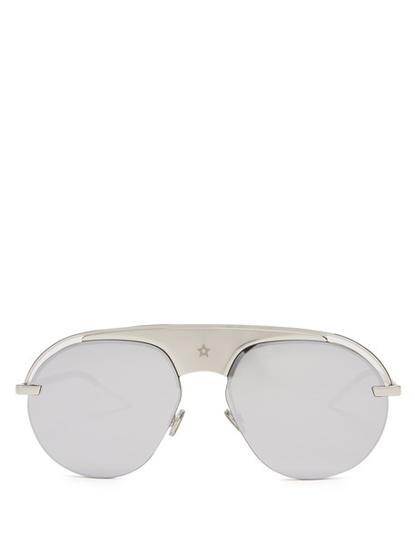 dior sunglasses aviator sunglasses silver