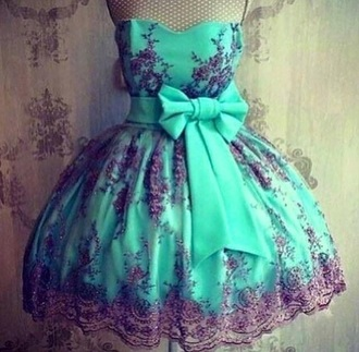 dress green lace black lace cute tutu bow bow dress green dress black dress