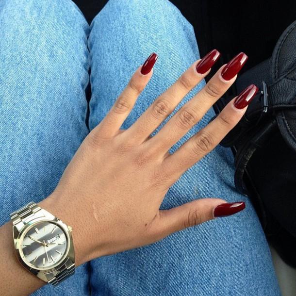 nail polish, fall colors, dark, burgendy - Wheretoget