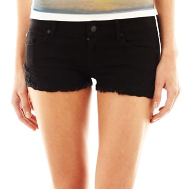 MNG by Mango® Lace Denim Shorts - jcpenney
