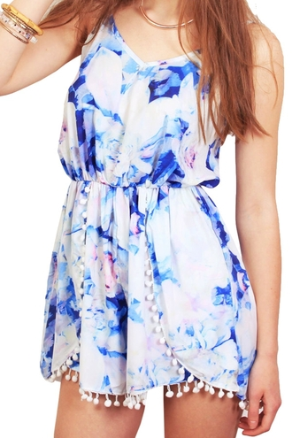 romper colorful summer spring fashion style trendy rose wholesale floral flowers summer dress cute boho