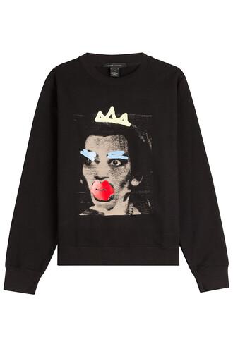 sweatshirt statement cotton black sweater