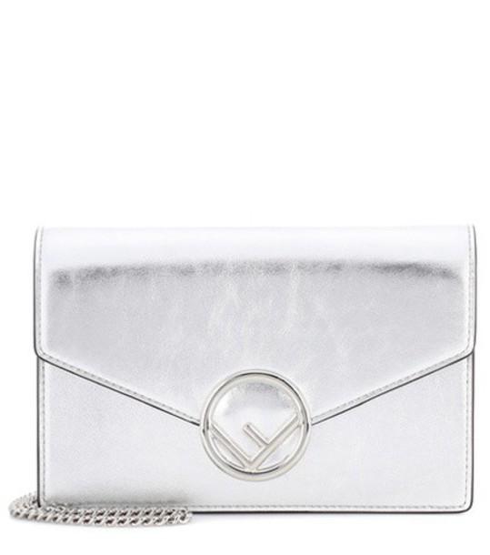 Fendi bag shoulder bag leather silver