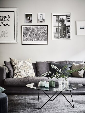 lady addict blogger home decor pillow table wall decor frame grey home furniture