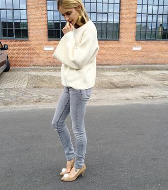 look de pernille blogger grey jeans oversized sweater