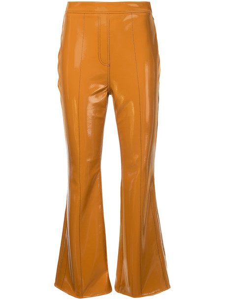 ellery cropped women brown pants