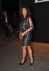 dress,salma hayek,fashion week 2014