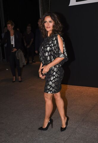 dress salma hayek fashion week 2014
