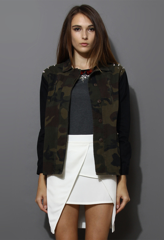 jacket rivet camouflage military style