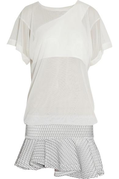 Jay Ahr|Stretch and honeycomb-mesh mini dress|NET-A-PORTER.COM