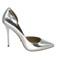 Stylish shoes - metallic silver heels