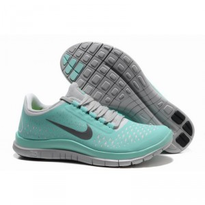 2012 New Arrival Nike Free 3.0 V4 Women's Running Shoes - Mint green/Grey