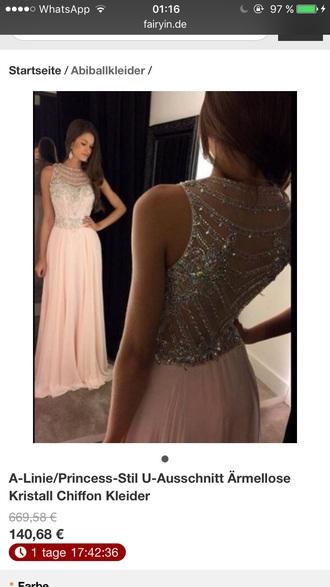 dress rose long long dress pink pink dress pearl pearls prom dresses
