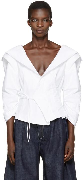 blouse top white
