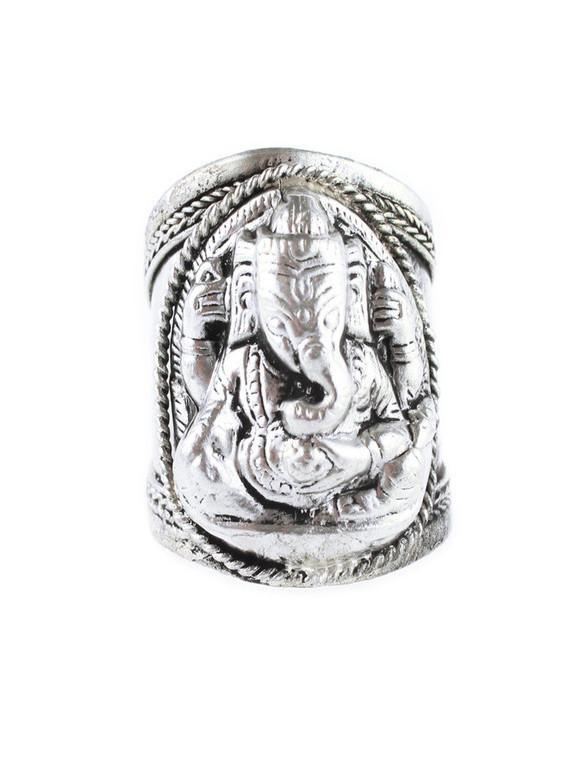 Ganesha elephant amulet ring