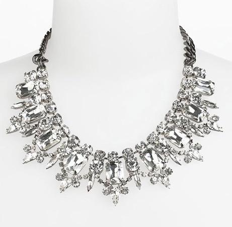 Crystal gems collar necklace – glamzelle