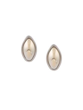 shark earrings metallic jewels