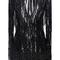 Long sleeved embroidered mini dress with fringe | moda operandi