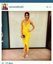 dress,maxi dress,yellow dress,asos,instagram