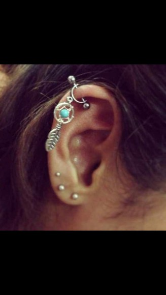 dream catcher jewels cartilage helix piercing dream catcher earring