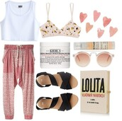 pants,faded pink,polyvore,pink,salmon,lolita,underwear,shoes