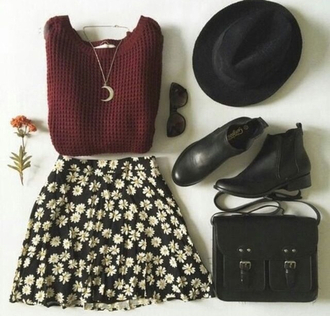 skirt mini skirt flower skirt mini flower skirt