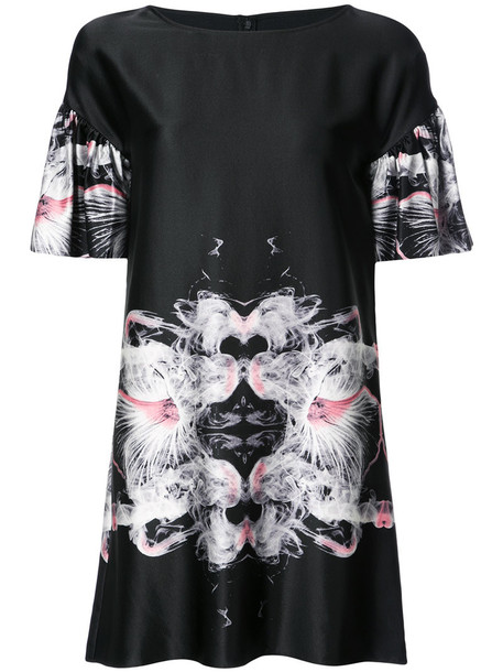 Thomas Wylde dress shift dress ruffle women black silk