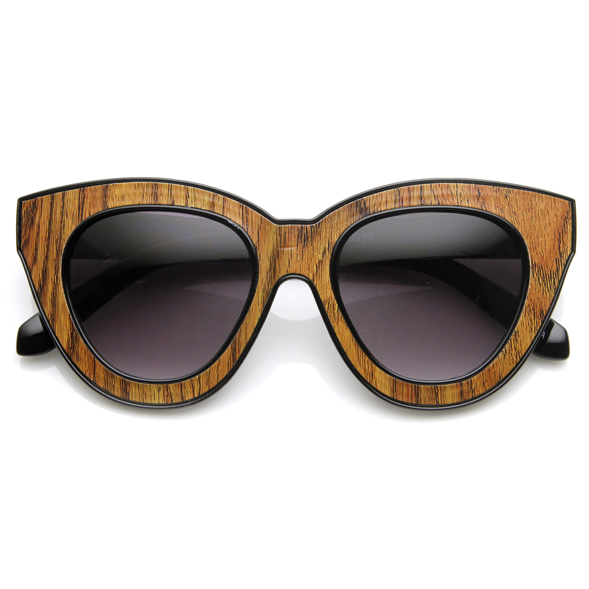 Indie Trendy Womens Block Cut Oversize Cat Eye Sunglasses 9160