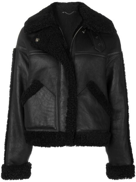 jacket shearling jacket women black