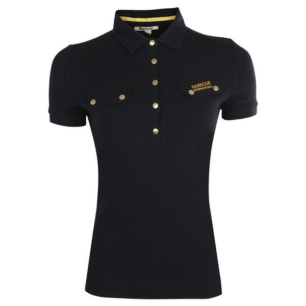 top womens black international polo barbour international