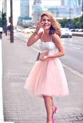 dress,tutu dress,tulle skirt,pink skirt