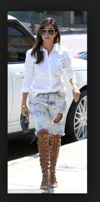shoes kourtney kardashian keeping up with the kardashians gladiators knee high sandals summer kardashians knee high riding boots over the knee jeans