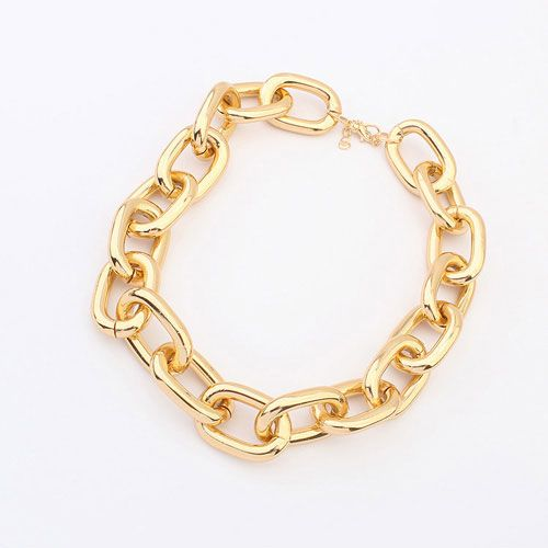 Personalized Single Fashion Alloy Buckle Short Chain Necklace Jewelry Wholesale - DualShine