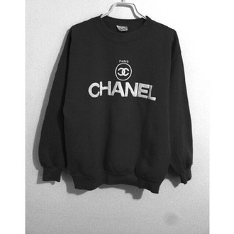 sweater black sweater chanel sweater hipster sweater