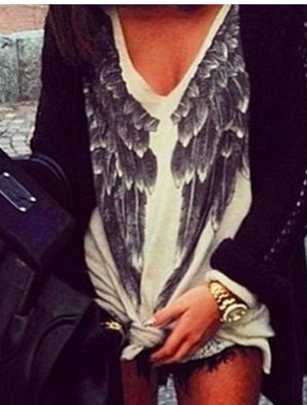 Cute hot wing sweater