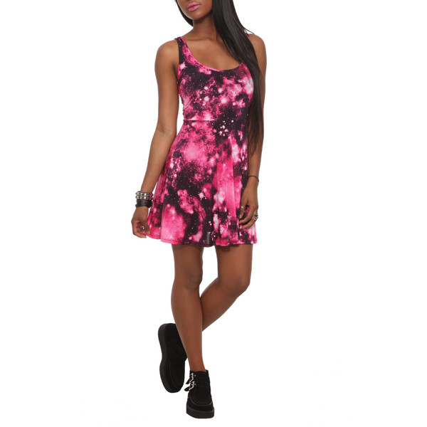 Pink galaxy dress