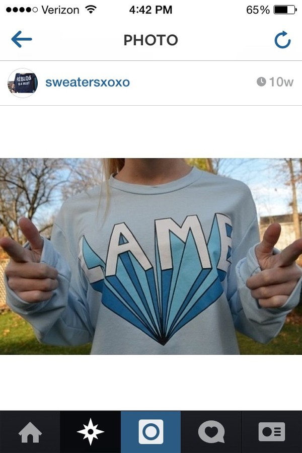sweater lame sweatshirt crewneck tumblr 3d