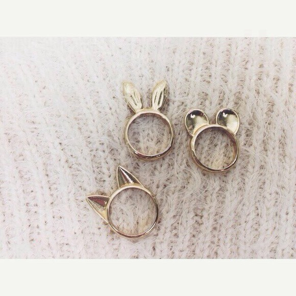 girly jewels ring ears bague minnie mickey dor?