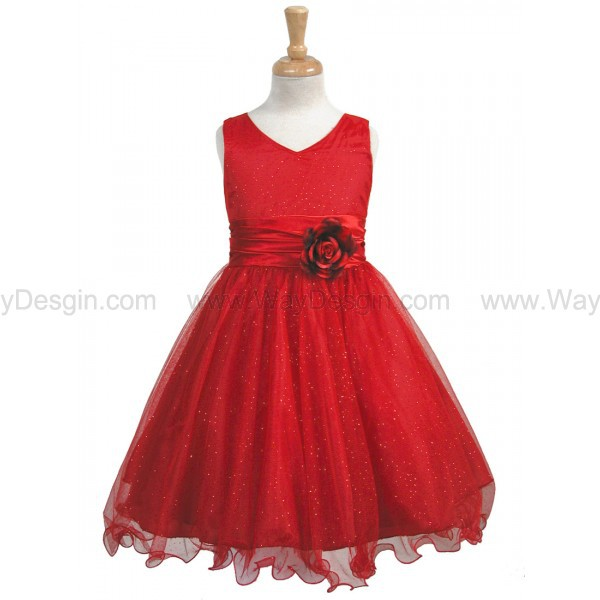 red flower girl dress red dress flower girl dresses