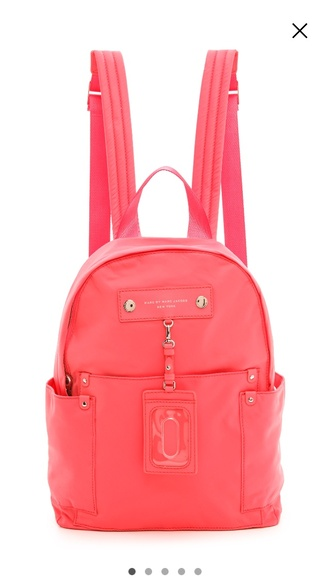 bag marc by marc jacobs marc jacobs pink backpack