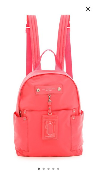 marc jacobs marc by marc jacobs bag pink backpack