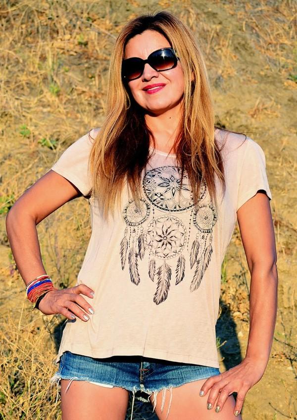 t-shirt boho boho shirt dreamcatcher