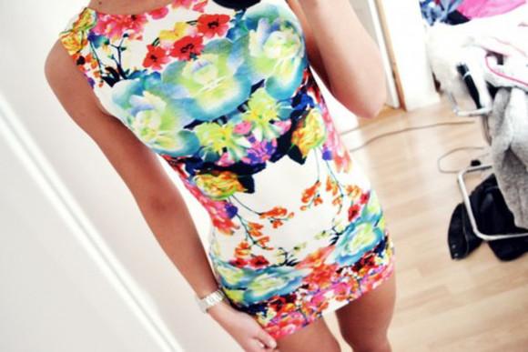 printed dress moulante colorful dress