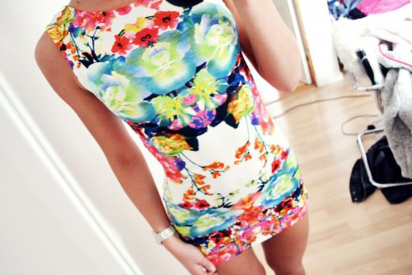 printed dress moulante colorful dress